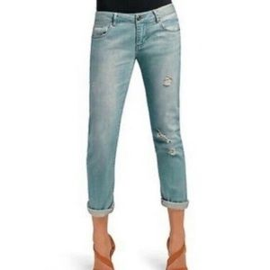 Cabi Distressed Deconstructed Boyfriend Jeans